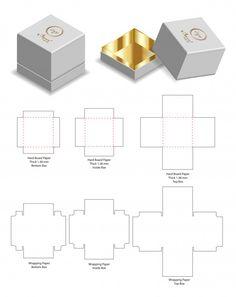 Hard board paper rigid box mockup with dieline Premium Vector Origami Paper Art, Easy Paper Crafts, Diy Paper, Diy Gift Box, Diy Box, Candle Packaging, Box Packaging, Packaging Dielines, Box Template Printable
