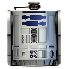 R2-D2 6oz Hip Flask. R2D2 from Star Wars featured on both sides of Flask. $16.99, via Etsy.