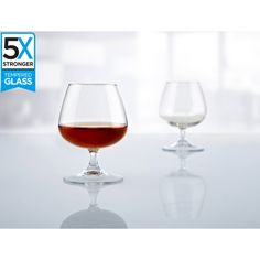 Buy a set of 6 Hostelvia Tempered Cognac Glasses online from Kitchen Junky - South Africa. tougher than regular glasses and features an elegant design. Wine Glass, Glasses, Design, Eyewear, Eyeglasses, Eye Glasses, Wine Bottles