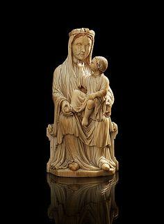 MARIA MED JESUSBARNET. Frankrike, 1200-talets andra hälft. Gotisk.. - Vårens Klassiska auktion, Stockholm 568 – Bukowskis