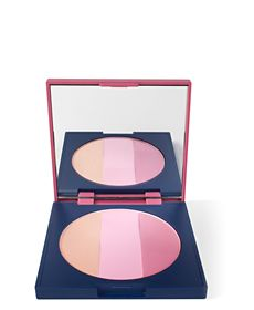 Matte & Shimmer Blush Trio from the Limited Edition Chorus Collection: Three shades--Magic Sandstone, Ecstatic Pink and Confident Berry--in two finishes, matte and shimmer, create myriad options for contouring and highlighting the complexion. Colors offer natural vitality to the skin. With a soft rose scent from pure essential oils.