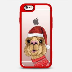 """Alpaca Christmas"" Transparent Iphone case designed by Barruf.  Get $10 off using this code (on your first order): S29WXC  #casetify #christmas #animal #alpaca #funny #accesories #iphone"
