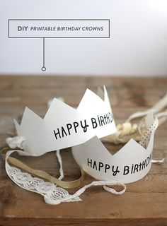 Free printable birthday crown template + tutorial at Say Yes Blog