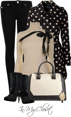 """Polka Dot Coat"" by in-my-closet on Polyvore"
