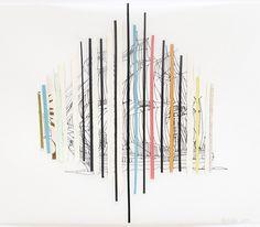 Jesse Harrod, Untitled, Textile Collage + Drawing, 2011