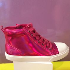 Metallic boot that comes in pink or purple at Clarks kids shoes for spring 2015 Clark Kids, Metallic Boots, Fall Shoes, Kid Shoes, Spring 2015, Clarks, Cool Kids, Purple, Pink