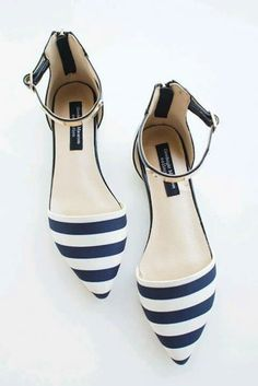 Shoes rayas azul y blanco