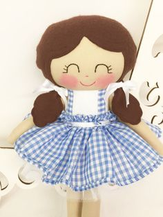 Wizard of Oz Dorothy Doll Cloth Baby Doll by SewManyPretties