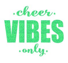 Cheer VIBES Only Iron On Decal by GirlsLoveGlitter on Etsy