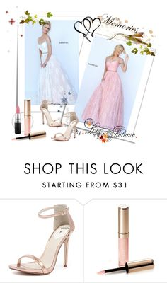 """""""Sherri Hill 50595 Blush Sweetheart A Line Prom Gown"""" by chicpromdress ❤ liked on Polyvore featuring Windsor Smith, By Terry and MAC Cosmetics"""