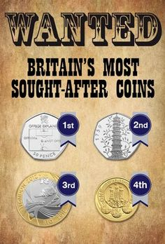 Most Wanted – Britain's most sought-after coins of – Change Checker Rare 50p Coins Value, 50p Coin Value, Rare British Coins, Change Checker, Old Coins Worth Money, English Coins, Valuable Coins, Coin Worth, Error Coins