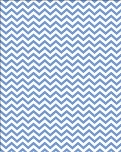 Free printable - blue party chevron