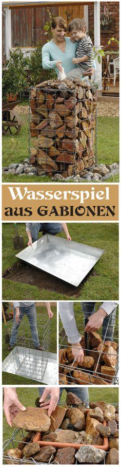 Ein Wasserspiel für den Garten kann man in nur wenigen Arbeitsschritten errichten. Und mit Gabionen sieht es auch noch richtig klasse aus. Wir zeigen in unserer Bauanleitung, wie du den Brunnen mit den Steinkörben selbst bauen kannst.