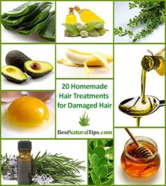 Discover the best homemade hair treatments for damaged hair that will deep condition your hair, repair damage and split ends and leave your hair healthy, smooth and shiny!