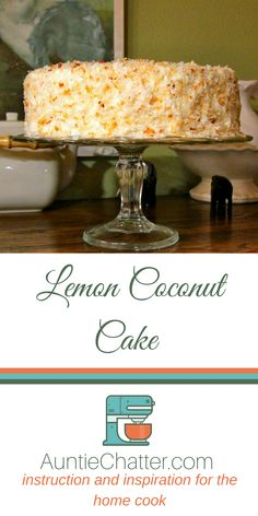 This Lemon Coconut Cake is perfect for your Easter celebration or anytime you're craving the delicious pairing of tart lemon with toasted coconut. - Coconut About Coconut Recipes, Lemon Recipes, Cake Recipes, Dessert Recipes, Salad Recipes, Lemon Desserts, Just Desserts, Delicious Desserts, Lemon Cakes