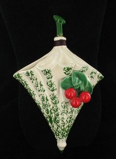 Umbrella with Cherries Wall Pocket