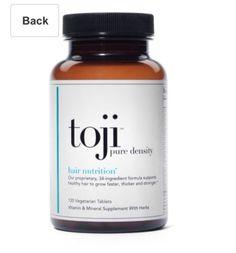 Toji Pure Density 30 Day Supply Vegetarian Hair Vitamins: Retail $46!