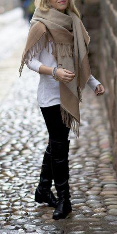 blanket scarf /// #fashion #scarf