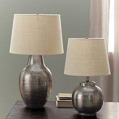 Hammered Metal Lamp Lamps