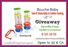 Enter Now To Win a Take N Shake Baby Toddler Set Ends Oct 10 2014