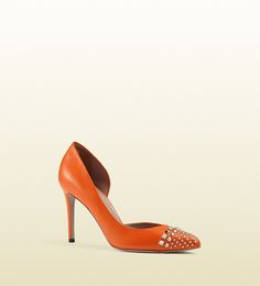 studded d'orsay leather pump