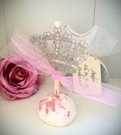 Glitter crown cupcake topper pick set of 6 by LiziLoves on Etsy