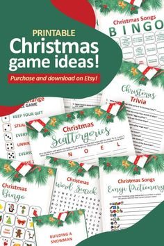 Christmas Games To Play, Printable Christmas Games, Christmas Trivia, Christmas Traditions, Christmas Fun, Joy, Etsy Shop, Handmade Gifts, Times