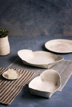 ceramic serving set Ceramic nesting set white by Free Folding