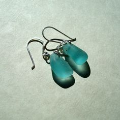 Sea Glass Earrings Pastel Blue Seaglass Sterling by tidetotreasure, $29.00