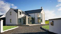 - House Plans, Home Plan Designs, Floor Plans and Blueprints Passive House Design, Modern House Design, House Designs Ireland, Dormer House, L Shaped House, Victoria House, Modern Farmhouse Exterior, Decoration, Building A House
