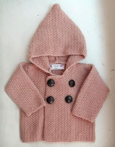Seed Stitch Baby Jacket by Elinor Brown - *pattern Baby Knitting Patterns, Baby Patterns, Crochet For Boys, Knitting For Kids, Free Knitting, Free Crochet, Seed Stitch, Moss Stitch, Crochet Jacket