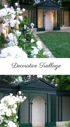 Decorative Treillage from www.accentsoffrance.