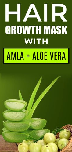 Hair Growth Mask With Amla Powder And Aloe Vera Gel - Hair Loss Treatment Aloe Vera Hair Growth, Hair Mask For Growth, Aloe Vera For Hair, Hair Growth Oil, Natural Hair Growth, Aloe Vera Gel, Coconut Oil Beauty, Coconut Oil For Acne, Proper Nutrition