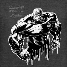 CLAP Meataxe Design Tri-Blend Signature Logo tee | CLAP - Meataxe Design