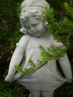 Young Girl Statue   In Garden By EdsMum French Cottage Garden, Cottage  Gardens, Garden