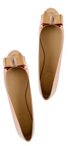 Metallic Rose Flats J Crew #shoes, #women, #pinsland, https://apps.facebook.com/yangutu