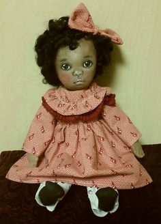 Tessie ooak painted cloth doll by suesizemore on Etsy