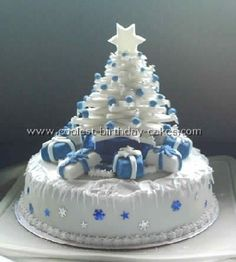 Beautiful Christmas tree cake