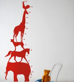 Animal tower wall sticker and growth chart!