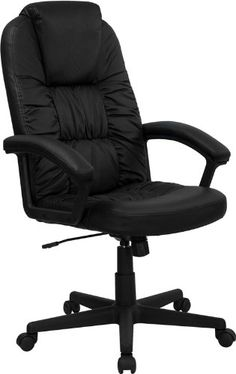 Flash Furniture BT983BKGG High Back Black Leather Executive Swivel Office Chair -- Read more  at the image link.Note:It is affiliate link to Amazon.