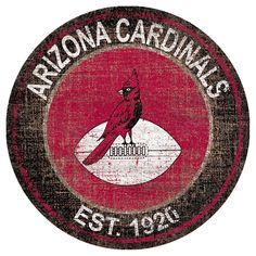 NFL Arizona Cardinals Heritage Logo 24 Round Sign