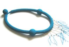 Wonderful crochet jewellery by Teresa Degleri Crochet Jewellery, Crochet Necklace, Athens, Dyi, Greece, Jewels, Bracelets, Accessories, Crochet Accessories