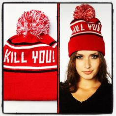 The Kill You Pom Pom Beanie at Karmaloop. Brand: ADEEN. Price: $32. Get 20% Off on any Karmaloop.com order. No minimum required.  Use RepCode: SALES at checkout. For more Karmaloop codes, visit http://www.Karmaloop-Codes.com  #karmaloop #fashion #clothing #clothes #swag #streetwear #hats #beanie