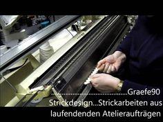 Stricken auf der Strickmaschine( mein 1. film ):Anschlag mit dem Doppelbett = Rechts-Links-Zusatzgerät
