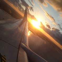 Flight out of Copenhagen in the evening... #sunset #airplane #flying