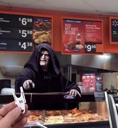 Now we know where Walmart put the old people after getting rid of the greeter position <<< this caption is better than the photo. Lol #StarWars #Inagalaxyfarfaraway