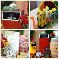 car theme wedding | ... awesome vintage vehicles and our themed decor, accents & lighting