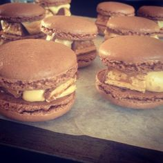 A take on the classic macaroon, here's a recipe for Emelia Jackson's Snickerons. Chef Recipes, Sweet Recipes, Masterchef Australia, Master Chef, Bite Size, Macaroons, Cookie Bars, Yummy Treats, Hamburger