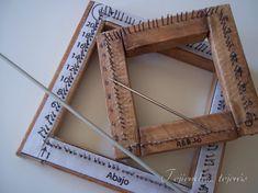 tejiendotejerasblog.wordpress.com Diy And Crafts, Weaving, Blog, Frame, Crochet, Home Decor, Wordpress, Construction, Weaving Looms