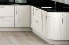 Shaker Classic Ivory Curved Cabinets